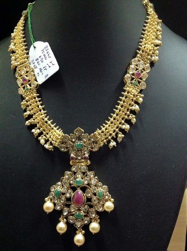 40 grams gold necklace designs