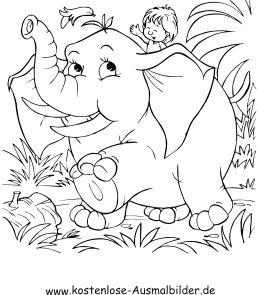 Ausmalbild Elefant Im Dschungel Ausdrucken Ausmalen Bilder Zum Ausmalen Kostenlos Ausmalbilder
