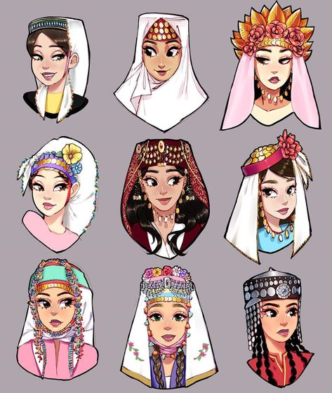 Traditional Fashion, Traditional Outfits, Turkish Art, Turkish Fashion, Woman Drawing, Ottoman Empire, Sketch Design, African American History, Character Design Inspiration