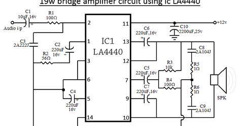 La4440 Bridge Amplifier Circuit Diagram Circuit Diagram Audio Amplifier Amplifier