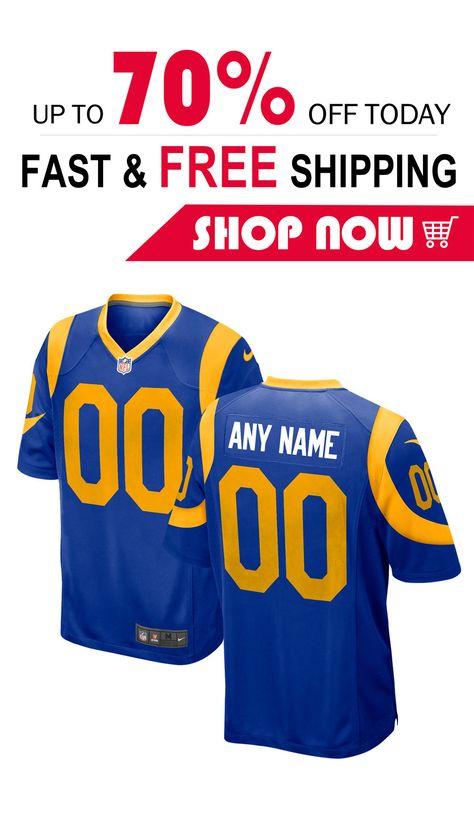 hot sale online a87ba c7fba 2019 的 mens Los Angeles Rams custom football Game jersey ...