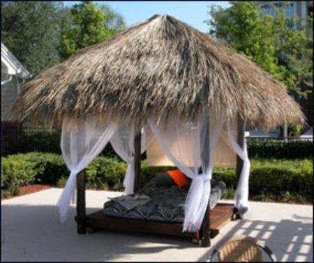 Bali Laze Outdoor Tiki Hut Bed