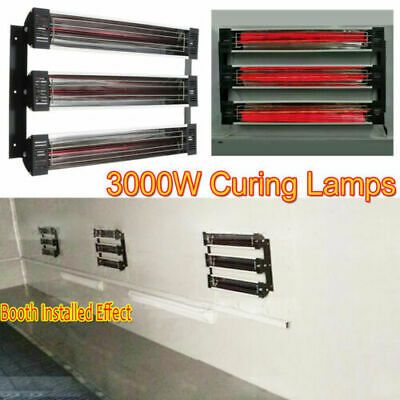 3kw Spray Baking Booth Oven Infrared Paint Curing Heater Lamps Heating Lights Ebay In 2020 Lamp Heat Lamps Lights