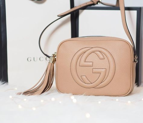 c0ad066dd Here she is - my new @gucci Soho Disco Bag in Blush Beige - I hope you  approve! I finally went for a bag that wasn't black you can see the ...