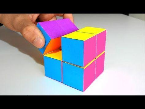 Como Hacer Un Cubo Mágico Infinito De Papel Origami Manualidades Increibles Youtube Como Hacer Un Cubo Manualidades Con Hojas De Papel Origami