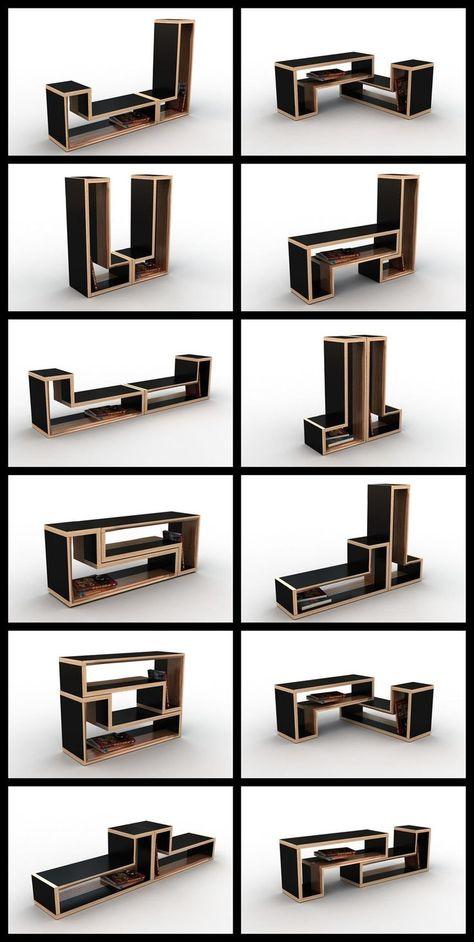 modular furniture #furniture Viktor Puzur : Tetris Furniture behance.net/... - #creativewoodworks #dywood #woodcreativedesign