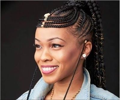 32 Best Straight Up Hairstyles 2019 Pictures Braids With Beads Fulani Braids Hair Styles