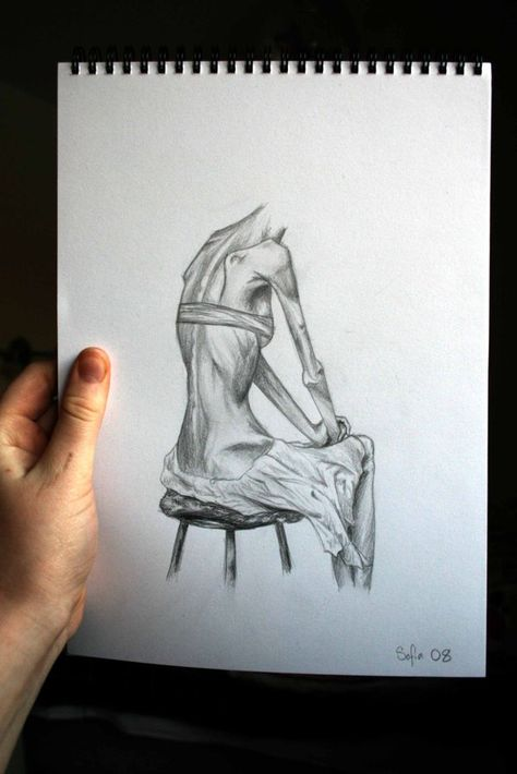 Anorexia and bulimia drawings