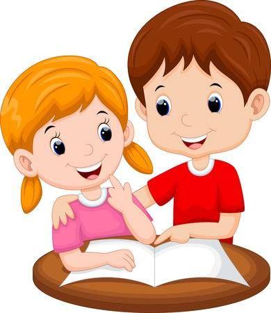 Ensenanza Hermana De Dibujos Animados Imagenes De Ninos Estudiando Ninos Estudiando Ninos Leyendo Animados