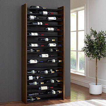 Corsica Triple Depth Vertical Display Wood And Metal Wine Rack In 2020 Metal Wine Rack Wine Rack Wood And Metal