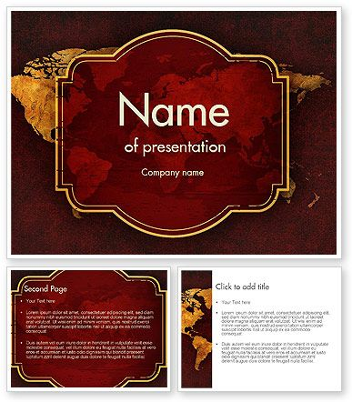 Vintage Style World Map PowerPoint Template