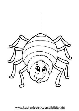 Malvorlage Marienkafer Ausmalbilder Spinne Malvorlagen Zum Thema Ausmalbilder Insek Free Halloween Coloring Pages Monster Coloring Pages Spider Coloring Page