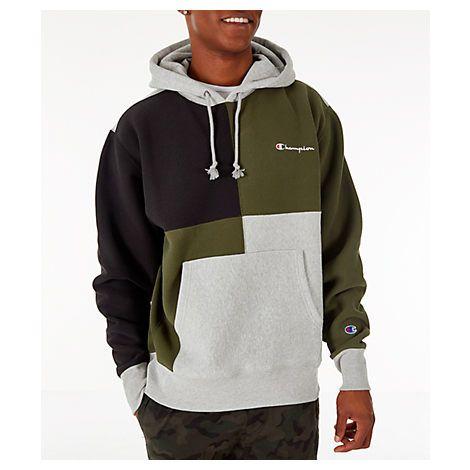 champion colorblock hoodie