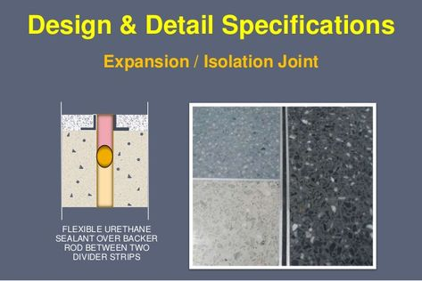 Control Joint In Terrazzo Flooring Allows For Expansion And
