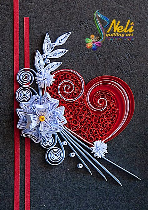 Neli Quilling Art: Quilling cards /10.5 cm - 7.5 cm/ and small quilling cards /7.5 cm-5.2 cm/
