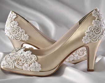 5dfe8a2beb8b2760b2ff9698f8ee9986 Bling Wedding Shoes Lace