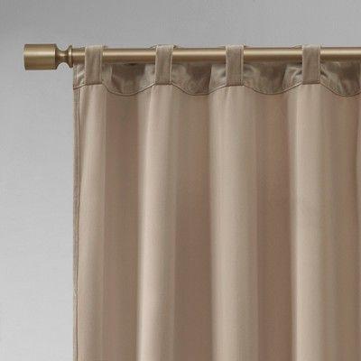 37 X95 Bryce Poly Velvet Window Panel Pair Taupe Adult Unisex