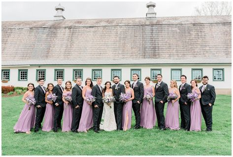 Barn at Perona Farms Wedding | Erin & Anthony - jenniferlarsenphoto.com, La Sorella Bridal, Beauty on Location, Ibranyi is Floral, Scripted Swirls, Kyle Dubiel Video, Minted, Kleinfeld, Jimmy Dee DJ, Badgley Mischka, Men's Warehouse, A Little Cake, Azazie #njwedding #barnwedding #purplewedding