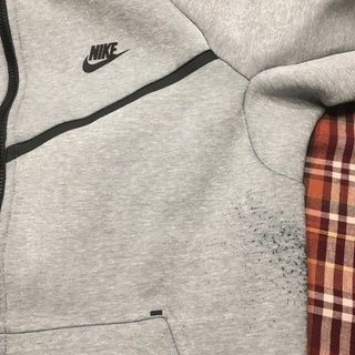 mens NIKE aw77 crew sweater w arm pocket fits Med | Nike
