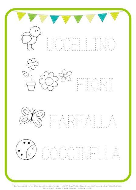 Schede Pregrafismo Per Bambini Di 5 6 Anni Da Stampare