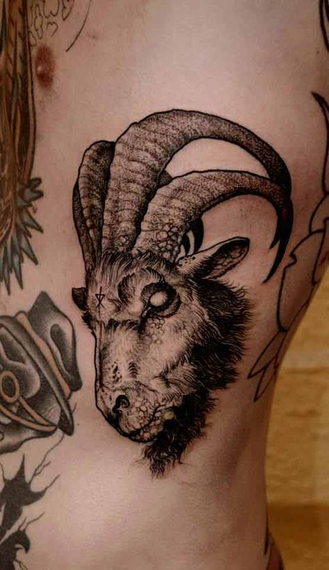 Goat Tattoo Meaning : tattoo, meaning, Capricorn, Tattoos, Designs, Ideas, Meanings, Tattoo,, Tattoo, Goat,, Satanic