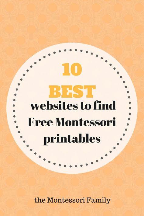 10 Best websites to find Montessori Free printable documents