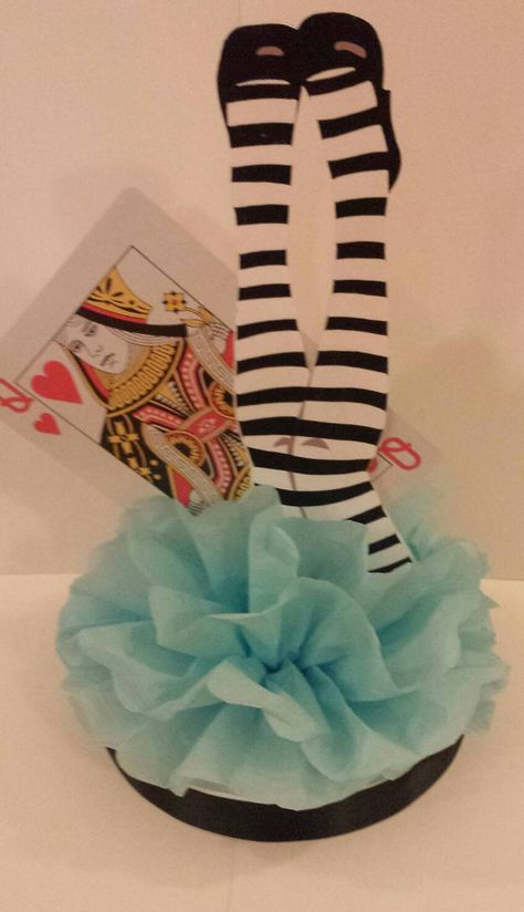 Alice In Wonderland Birthday Party Table Decor centerpiece for birthday party or baby shower Super Cute!