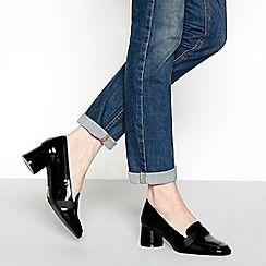 Patent shoes, Block heel shoes, Shoe boots