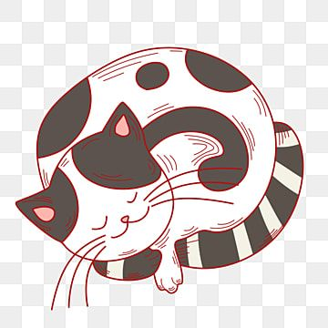 Sleeping Cat Hand Drawn Illustration Sleeping Cat Cute Cat Hand Drawn Cat Png Transparent Clipart Image And Psd File For Free Download Kitten Cartoon Cute Cat Cat Background