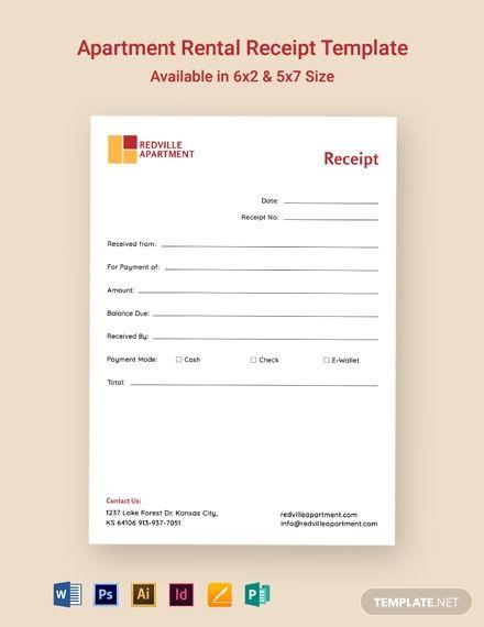 Apartment Rental Receipt Template Free Pdf Google Docs Google Sheets Excel Word Template Net Receipt Template Rental Apartments Templates