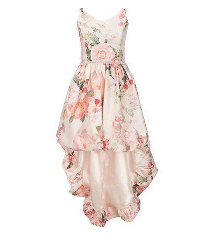 3f054f6b0 Xtraordinary Big Girls 7-16 Floral-Printed Hi-Low Bubble Dress ...