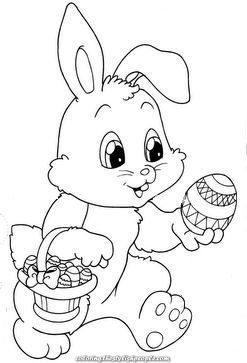 The Rabbit Of Easter 20 Bunny Coloring Pages Easter Bunny