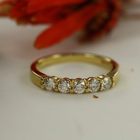 0.50 ct Round Baguette Diamond Wedding Band Anniversary Ring 14k Yellow Gold GP