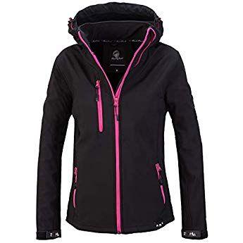 Geographical Norway Damen Softshell Funktions Jacke Outdoor Regen wasserabweisend
