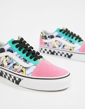 Vans X Disney Old Skool mickey sneakers | Sneakers, Shoes
