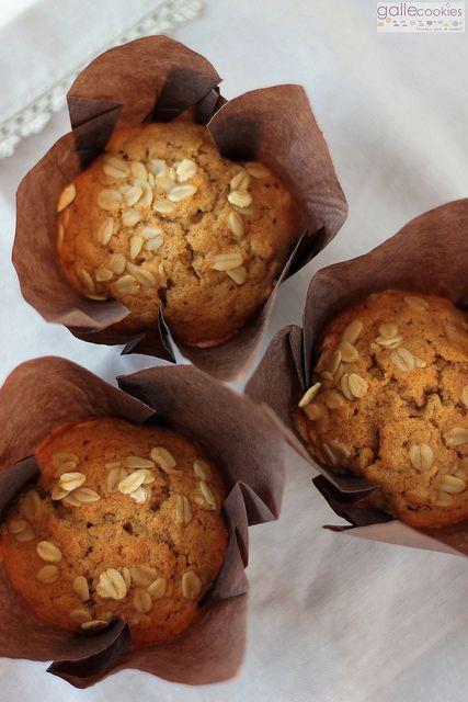 Muffins integrales de avena