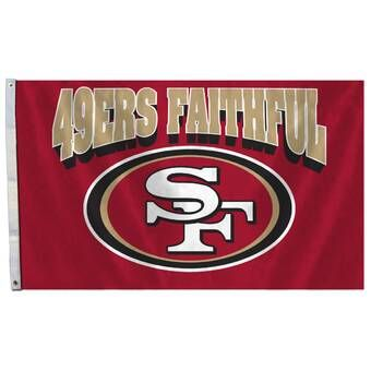 Nfl Traditional Polyester 36 X 60 In House Flag San Francisco 49ers 49ers Nfl San Francisco