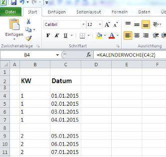 Excel Datum In Kalenderwoche Umwandeln Excel Tipps Kalenderwoche Buroorganisation Tipps