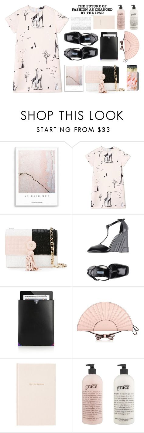 """The Future Of Fashion"" by emcf3548 ❤ liked on Polyvore featuring Rochas, Versace, Prada, Alexander Wang, RED Valentino, Kate Spade and philosophy"