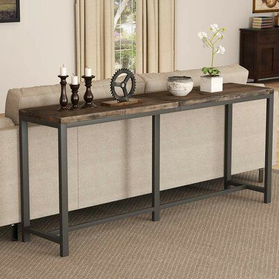 A Comprehensive Overview On Home Decoration In 2020 Console Table Behind Sofa Narrow Console Table Long Sofa Table