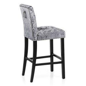 Barrington Bar Stool Grey Velvet Bar Stools Floor Seating Comfy Living Room Furniture