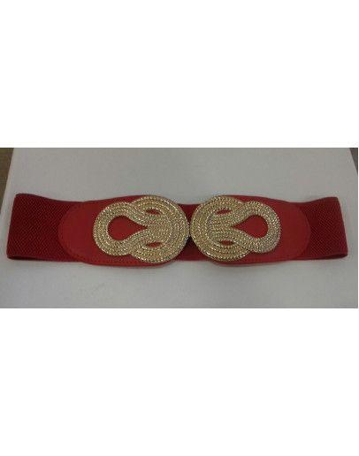 numerosos en variedad compra venta calidad Cinturón Ancho Rojo Nudos Dorados   Cinturones De Fiesta ...