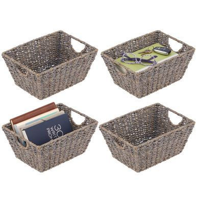 Natural Woven Storage Cube Basket With