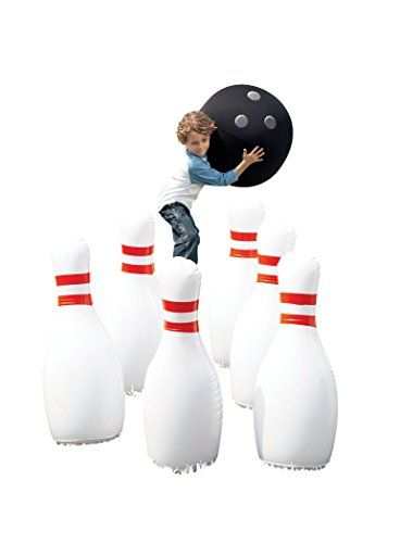 Giant Bowling Game Inflatable Classic Red White And Yard Games For Kids Natural Playground Kids Bowling
