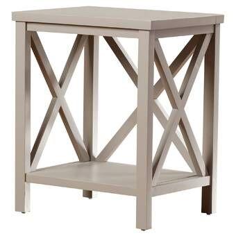 Wrightstown Solid Wood Floor Shelf End Table Wood End Tables End Tables With Storage End Tables