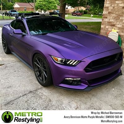 fab9bb95e6 Avery SW900 Supreme Wrapping Vinyl Film Matte Purple Metallic ...
