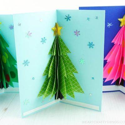 How To Make A 3d Christmas Card Diy Christmas Cards 3d Christmas Cards Christmas Card Template