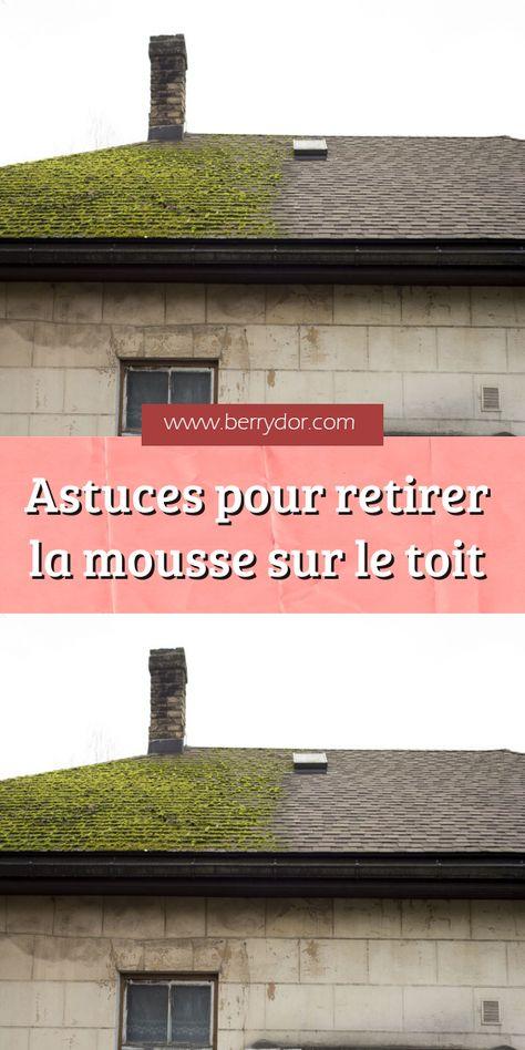 Astuces Pour Retirer La Mousse Sur Le Toit Nettoyage Toiture Toit Anti Mousse Toiture