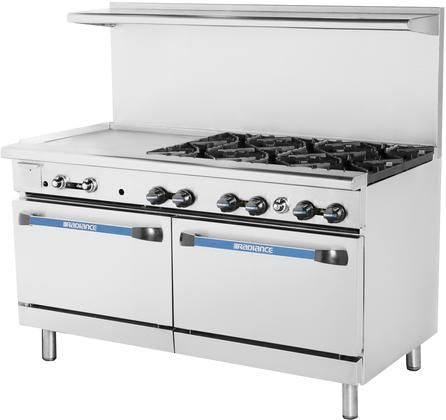 Targ 48g2b Lp 60 Liquid Propane Heavy Duty Restaurant Range With 2 Open Burners 48 Griddle Cast Stainless Steel Oven Commercial Kitchen Cleaning Oven Racks