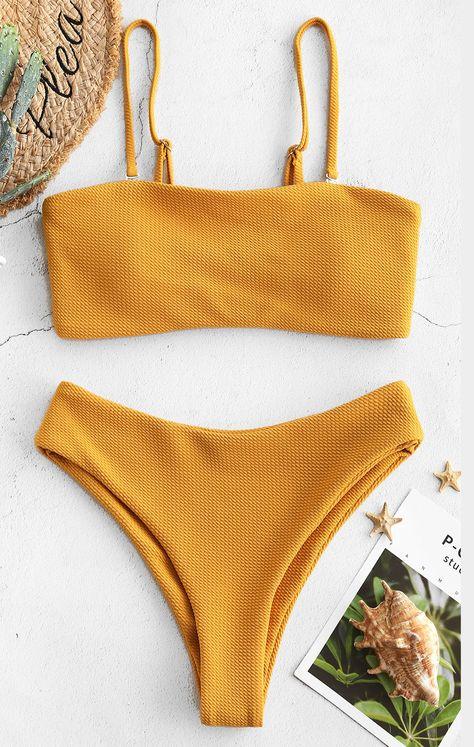 2020 Women Swimsuits Bikini Women'S Swim Leggings Delta Burke Swimwear Printed One Piece Swimsuit Expensive Bathing Suits Bandeau Outfit, Bikini Outfits, Bandeau Bikini Set, Bikini Swimwear, Mini Bikini, Bikini Retro, Bikini Beach, 2 Piece Swimsuits, Cute Swimsuits